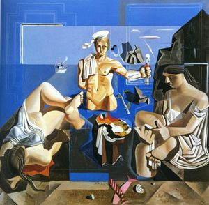 Neo-Cubist Academy (Composition with Three Figures)