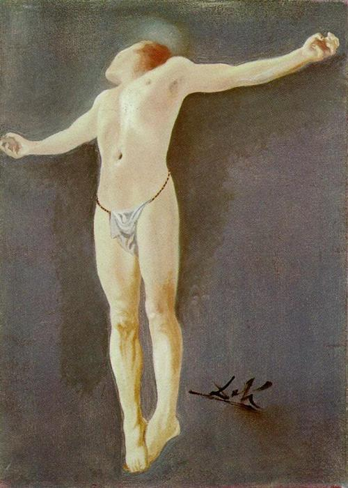 WikiOO.org - Encyclopedia of Fine Arts - Maleri, Artwork Salvador Dali - Crucifixion
