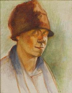 Figure with hat