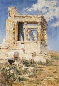 Erechtheion. The portico of caryatids