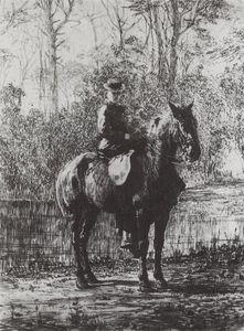 Amazon on a horseback