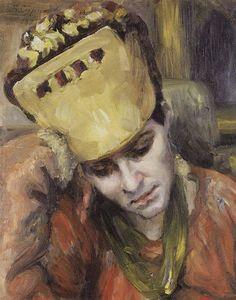 Portrait of young woman with kokoshnik