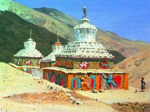 Posthumous monuments in Ladakh