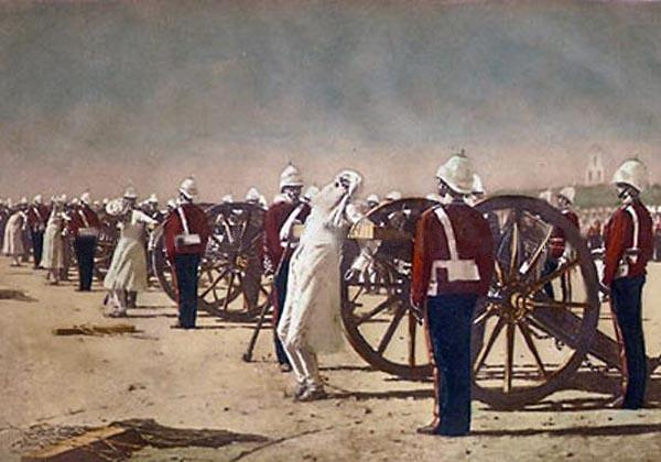 Wikioo.org - The Encyclopedia of Fine Arts - Painting, Artwork by Vasily Vasilevich Vereshchagin - Blowing from Guns in British India