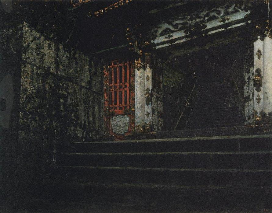 Wikioo.org - The Encyclopedia of Fine Arts - Painting, Artwork by Vasily Vasilievich Vereschagin - Entrance to a Temple in Nikko