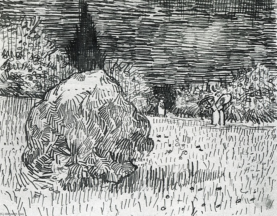 Wikioo.org - The Encyclopedia of Fine Arts - Painting, Artwork by Vincent Van Gogh - Bush in the Park at Arles
