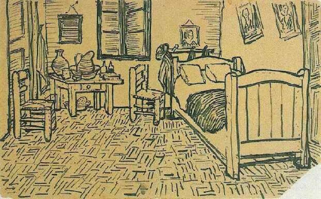 Wikioo.org - The Encyclopedia of Fine Arts - Painting, Artwork by Vincent Van Gogh - Vincent's Bedroom in Arles