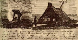 Peasant Burning Weeds, and Farmhouse at Night