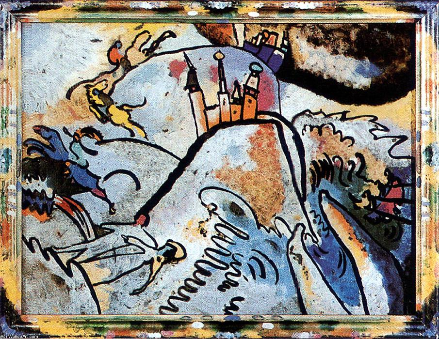 Wikioo.org - The Encyclopedia of Fine Arts - Painting, Artwork by Wassily Kandinsky - Glass Painting with the Sun (Small Pleasures)