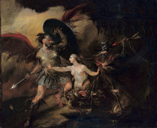 Wikioo.org - The Encyclopedia of Fine Arts - Painting, Artwork by William Hogarth - Satan, Sin and Death