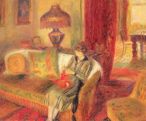 The Artist's Wife Knitting