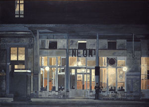 Cafe ''Neon'' at night