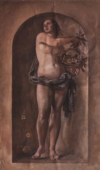 Wikioo.org - The Encyclopedia of Fine Arts - Painting, Artwork by Zinaida Serebriakova - Nymph Flora