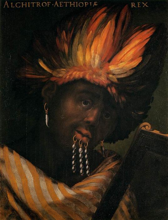 Wikioo.org – La Enciclopedia de las Bellas Artes - Pintura, Obras de arte de Cristofano Di Papi Dell Altissimo - Alchitrof, emperador de Etiopía