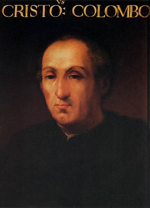 Wikioo.org – La Enciclopedia de las Bellas Artes - Pintura, Obras de arte de Cristofano Di Papi Dell Altissimo - Retrato de Cristóbal Colón
