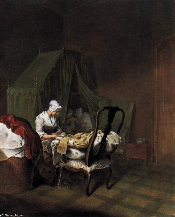 Wikioo.org - The Encyclopedia of Fine Arts - Painting, Artwork by Daniel Nikolaus Chodowiecki - The Lying-in Room