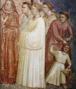 Scene da vita di san francesco : 2 . rinuncia ai beni mondani ( particolare )