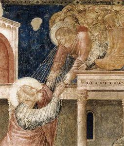Scene da vita di san giovanni evangelista : 3 . ascensione del evangelista ( particolare )