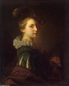 Young Woman in Theatrical Costume - Alexis Grimou