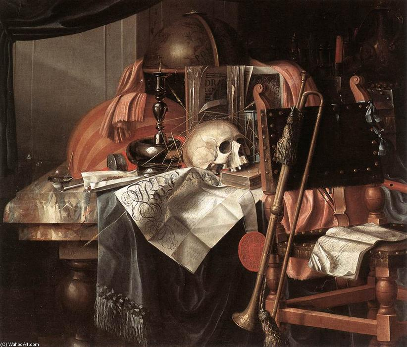 Wikioo.org - The Encyclopedia of Fine Arts - Painting, Artwork by Franciscus Gysbrechts - Vanitas