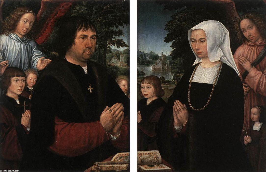 Wikioo.org - The Encyclopedia of Fine Arts - Painting, Artwork by Gerard Horenbout - Portraits of Lieven van Pottelsberghe and his Wife