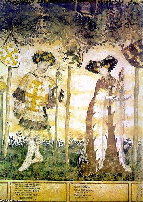 Wikioo.org - The Encyclopedia of Fine Arts - Painting, Artwork by Jacques Iverny - Hero and Heroine (detail)