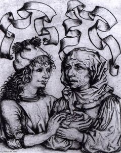Ill-Matched Couple: Young Man and Old Woman