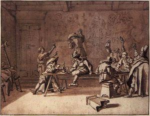 Bentvueghels in a Roman Tavern