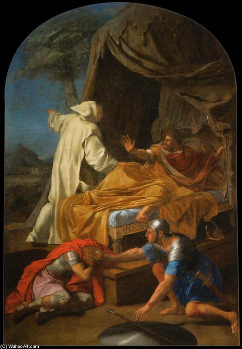 Wikioo.org - The Encyclopedia of Fine Arts - Painting, Artwork by Brother Lesueur (Eustache Le Sueur) - St Bruno Appearing to Comte Roger