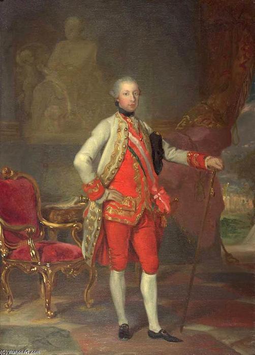 Wikioo.org - The Encyclopedia of Fine Arts - Painting, Artwork by Anton Von Maron - Portrait of Emperor Joseph II