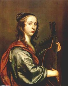 Lady Playing the Lute