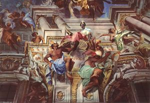 Allegory of the Jesuits' Missionary Work (detail)