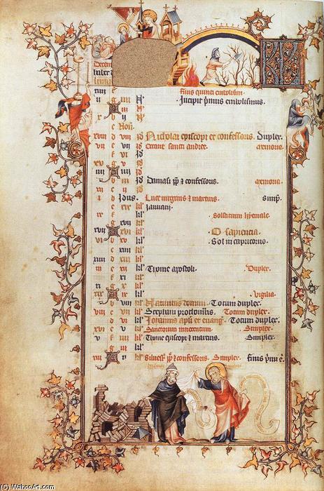 WikiOO.org - Enciklopedija dailės - Tapyba, meno kuriniai Jean Pucelle - Belleville Breviary: December