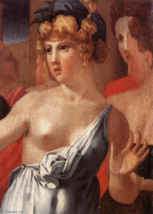 Wikioo.org - The Encyclopedia of Fine Arts - Painting, Artwork by Rosso Fiorentino - Moses Defending the Daughters of Jethro (detail)