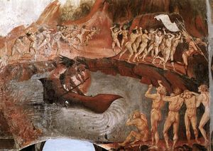 The Damned Being Plunged into Hell (detail)