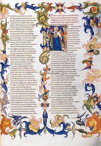 The Divine Comedy by Dante Alighieri (Folio 54r)