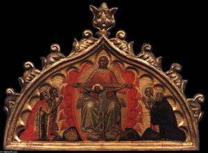 Throne of Grace with Four Saints