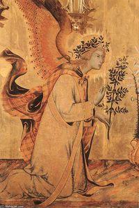 lannunciazione e le  due  santi  particolare