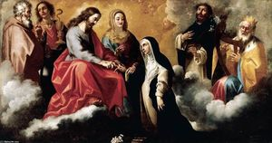 The Mystic Marriage of St Catherine of Siena