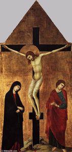 Crucifixion con lestensione Vergine e san giovanni evangelista