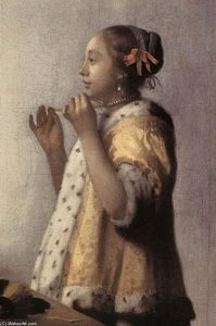Woman with a Pearl Necklace (detail)