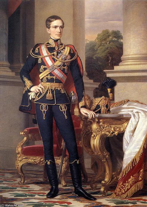 Wikioo.org - The Encyclopedia of Fine Arts - Painting, Artwork by Miklos Barabas - Portrait of Emperor Franz Joseph I