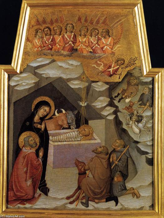 WikiOO.org - Enciklopedija dailės - Tapyba, meno kuriniai Bartolo Di Fredi - Nativity and Adoration of the Shepherds