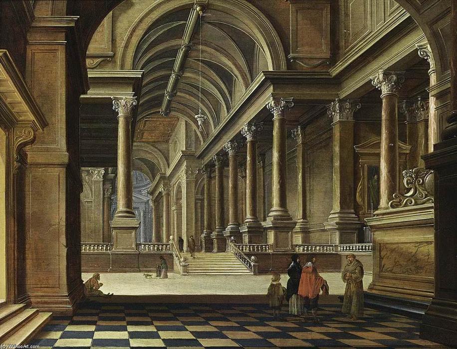 Wikioo.org - The Encyclopedia of Fine Arts - Painting, Artwork by Bartholomeus Corneliszoon Van Bassen - Interior of an Imaginary Church