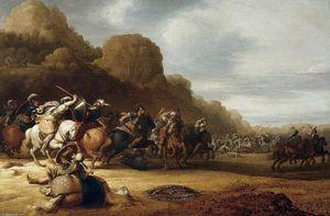 Cavalry Battle Scene