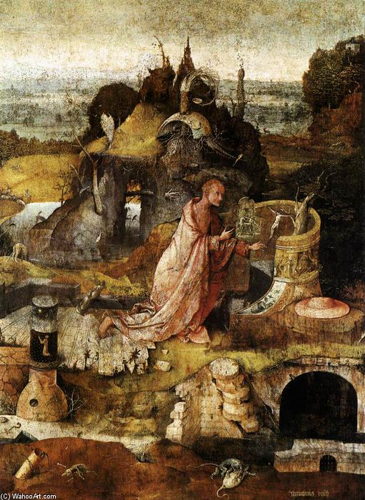 Wikioo.org - The Encyclopedia of Fine Arts - Painting, Artwork by Hieronymus Bosch - Hermit Saints Triptych (central panel)