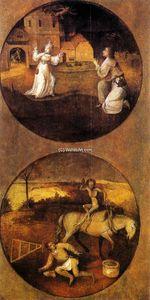 Mankind Beset by Devils (reverse of Rebel Angels panel)