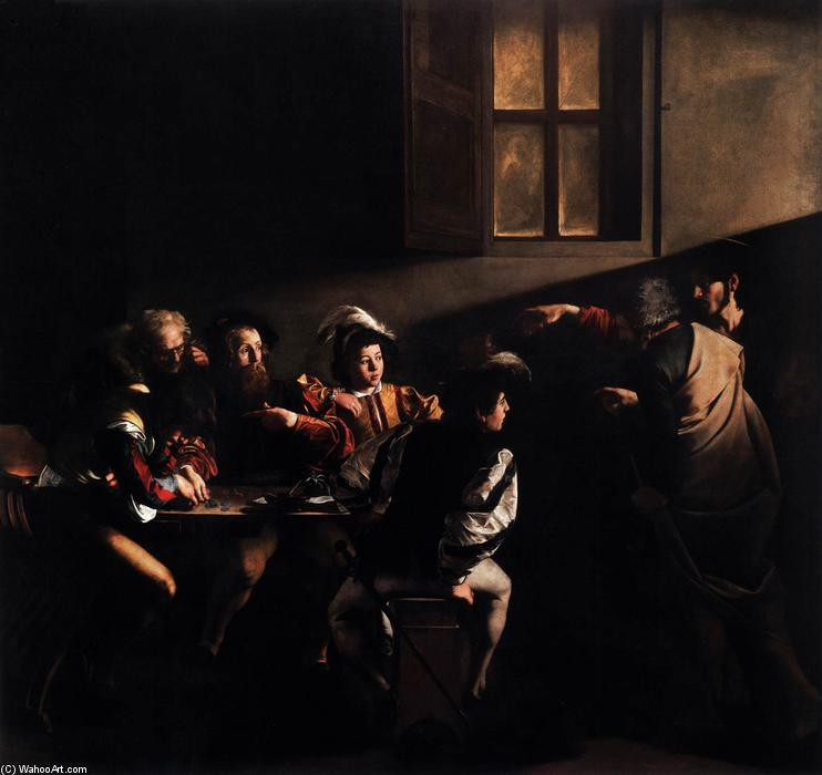 Wikioo.org - The Encyclopedia of Fine Arts - Painting, Artwork by Caravaggio (Michelangelo Merisi) - The Calling of Saint Matthew