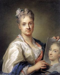 Self-Portrait Holding a Portrait of Her Sister