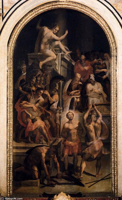Wikioo.org - The Encyclopedia of Fine Arts - Painting, Artwork by Lorenzo The Younger Costa - The Martyrdom of St Hadrian